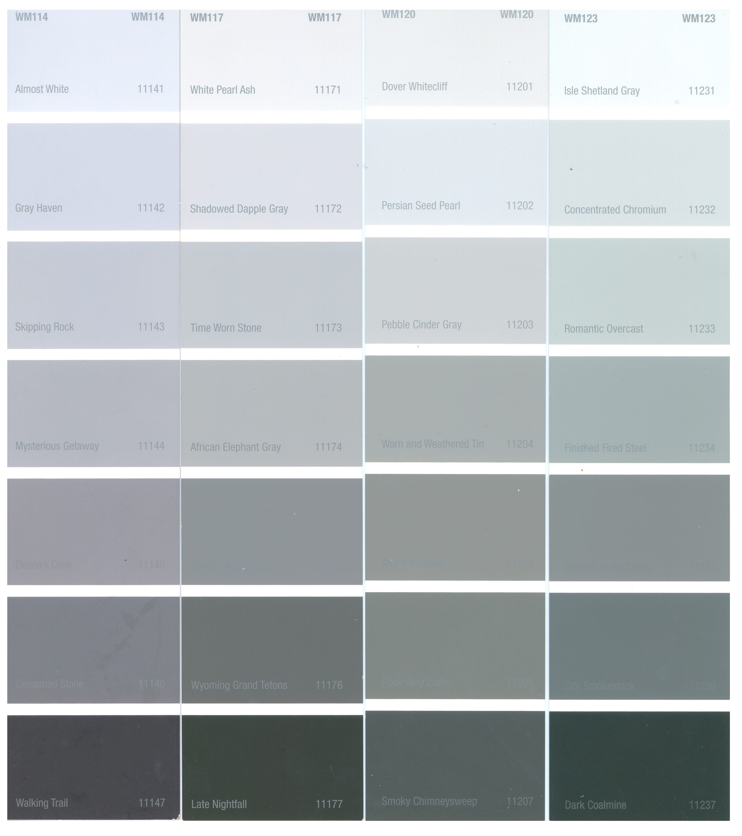 28 shades of gray color 50 different shades of gray for Grey white paint colors