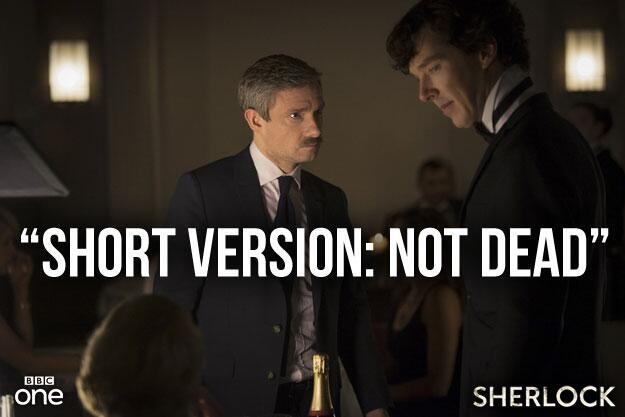 Sherlock and I.  Still tight.  Not dead.